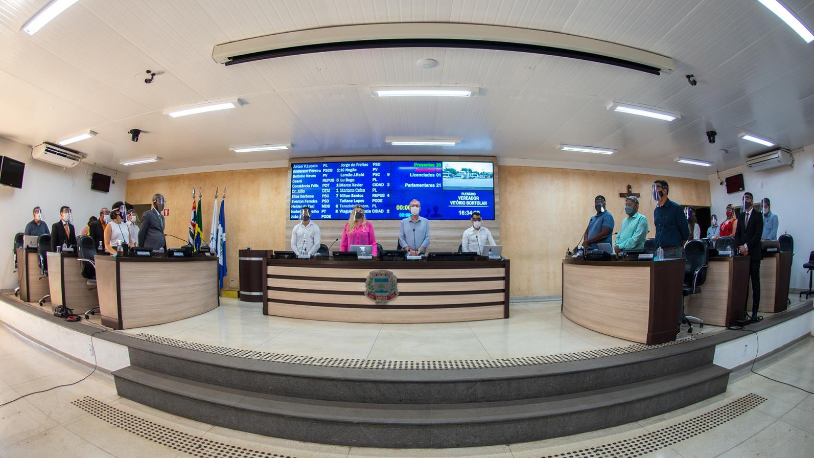 Sessões presenciais são retomadas na Câmara Municipal de Limeira