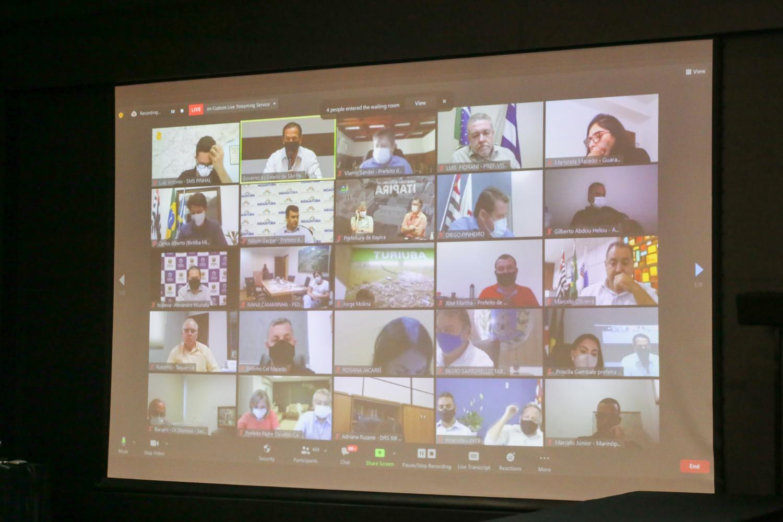 Doria propõe ação conjunta entre Estado e municípios para enfrentar agravamento da pandemia