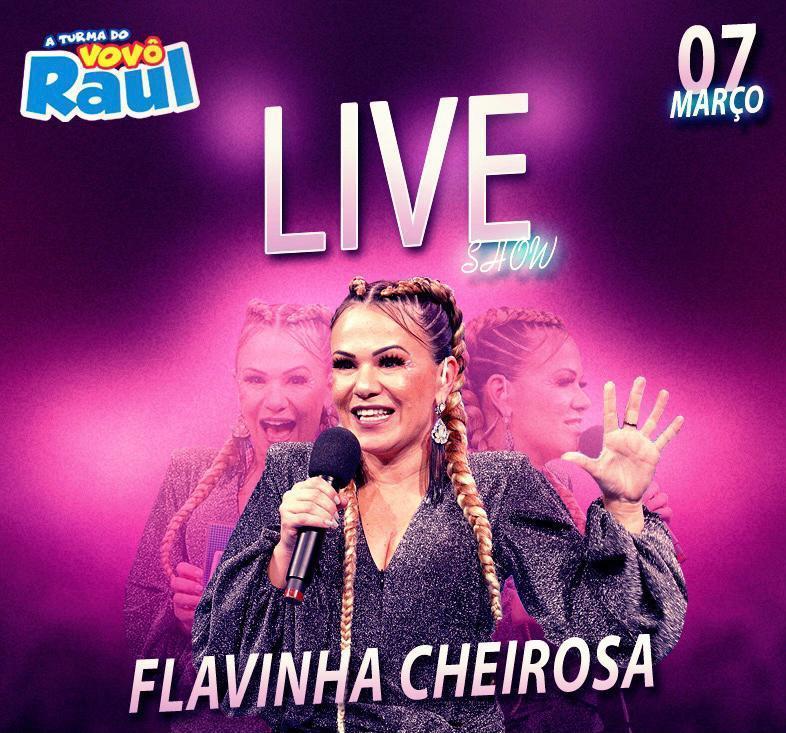 Apresentadora Flavinha Cheirosa comanda LIVE do Vovô Raul Gil especial de aniversário
