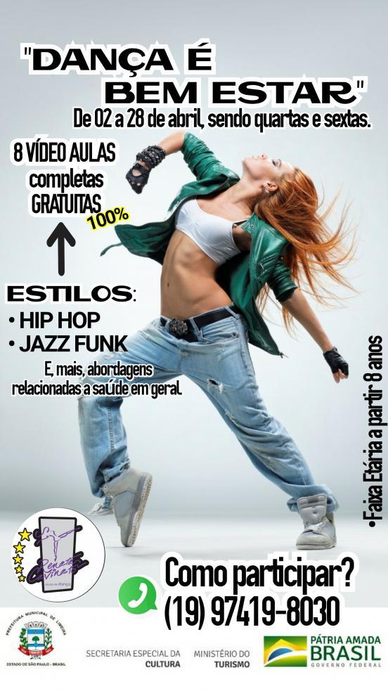 Renata Cavinato Studio de Dança oferece aulas gratuitas de Jazz Funk e Danças Urbanas