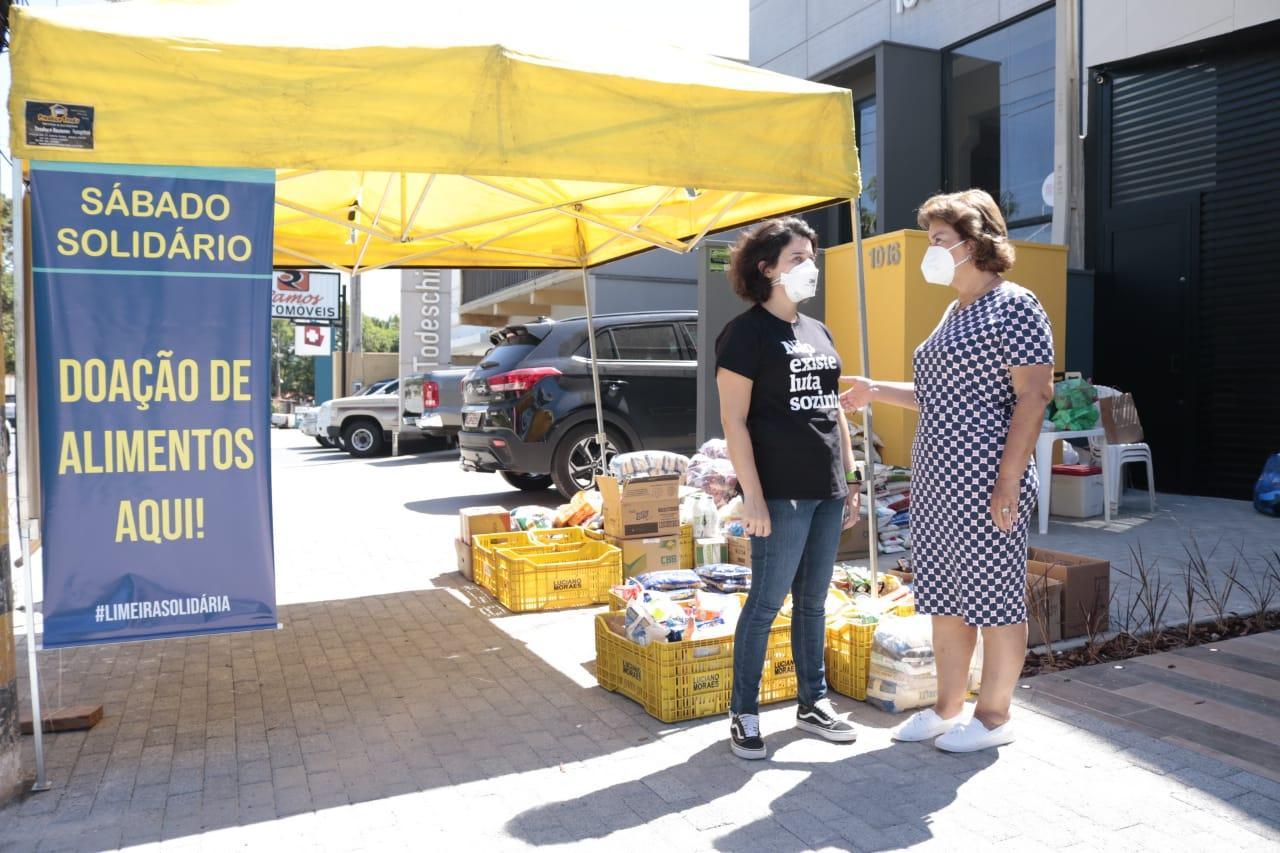 Sábado Solidário em Limeira arrecada alimentos para doação