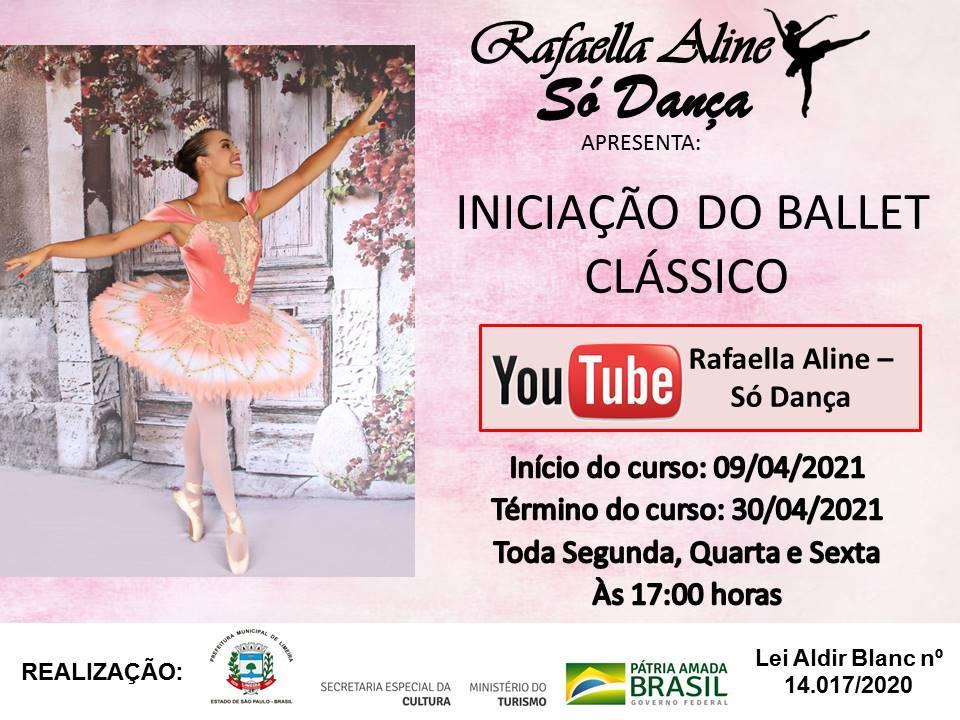 Só Dança oferece aulas virtuais de iniciação ao balé