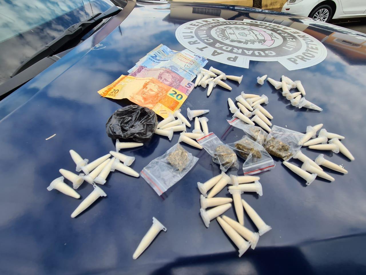 Durante patrulhamento, GCM apreende drogas no Profilurb, em Limeira
