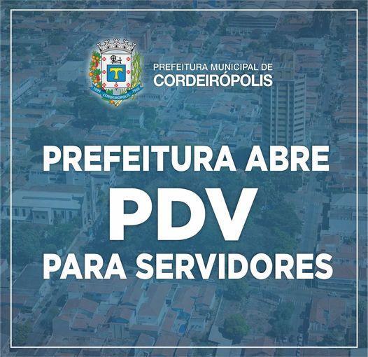 Prefeitura de Cordeirópolis reabre PDV para servidores interessados