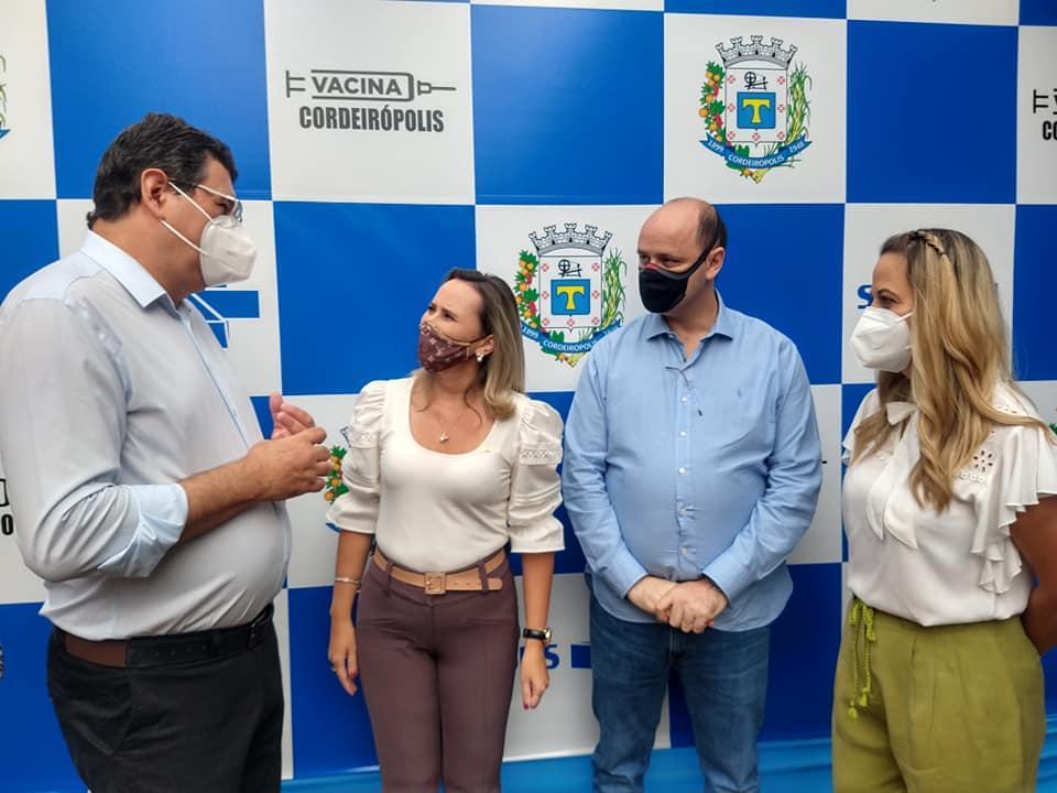 Cordeirópolis recebe visita do ex-Ministro e atual secretário Estadual de Educação, Rossieli Soares