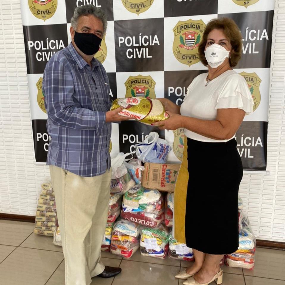 Limeira Solidária recebe mais de 200 kg em alimentos da Delegacia Seccional
