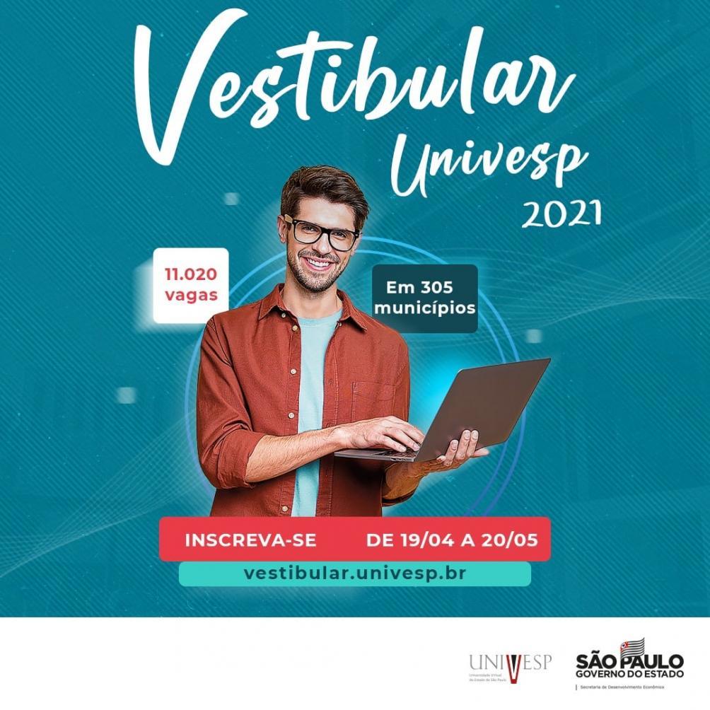 Estão abertas as inscrições para o Vestibular 2021 da UNIVESP