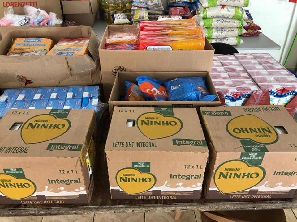 Mais de 200 kits de alimento foram doados graças à iniciativa do comércio de Cordeirópolis