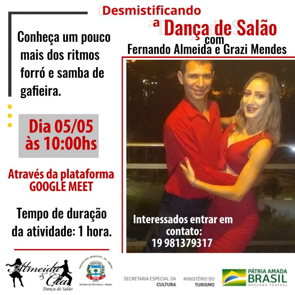 """Escola Almeida & Cia apresenta """"Desmistificando a Dança de Salão"""""""