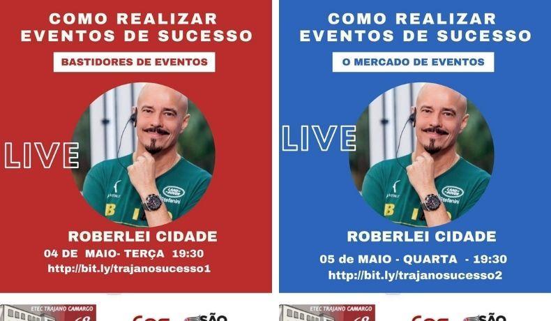 """Roberlei Cidade apresenta palestra virtual """"Como realizar eventos de Sucesso"""""""