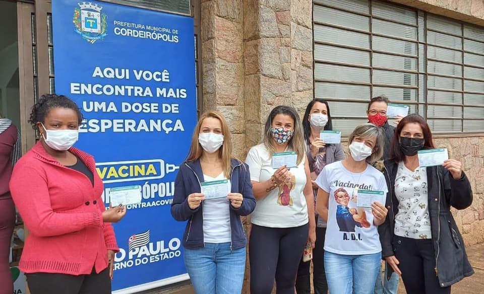 Cordeirópolis realiza vacinação de profissionais da Educação básica de 18 a 44 anos