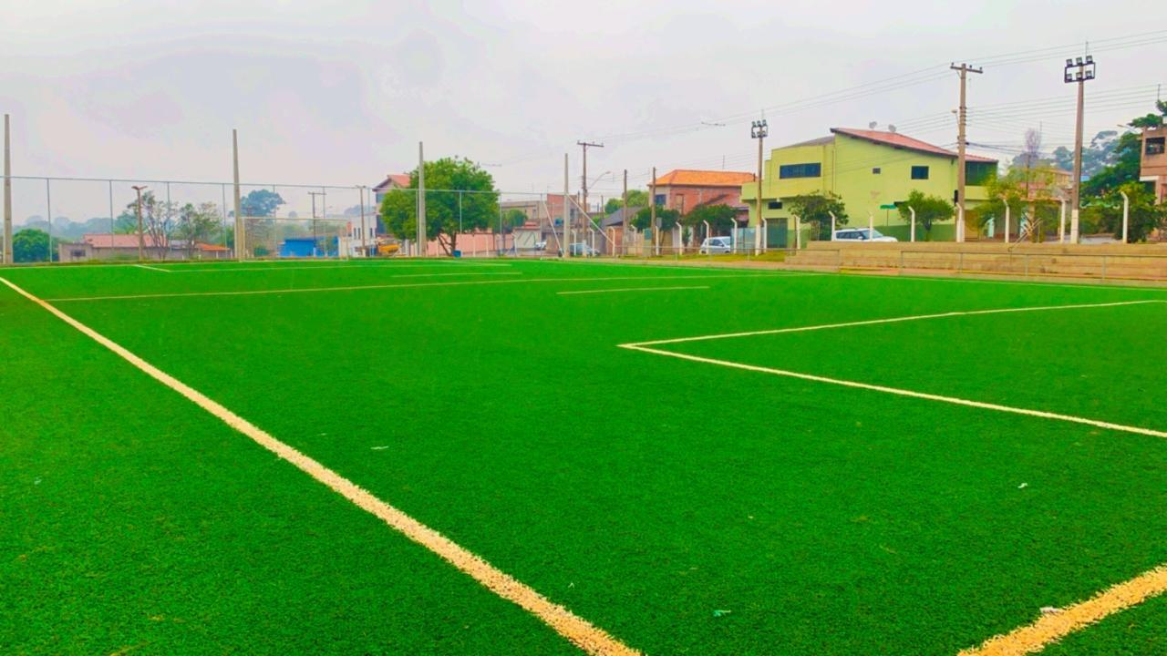Primeiro campo público de futebol society de Cordeirópolis está pronto