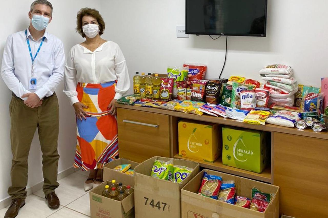 Fundo Social recebe doação de alimentos da BRK Ambiental