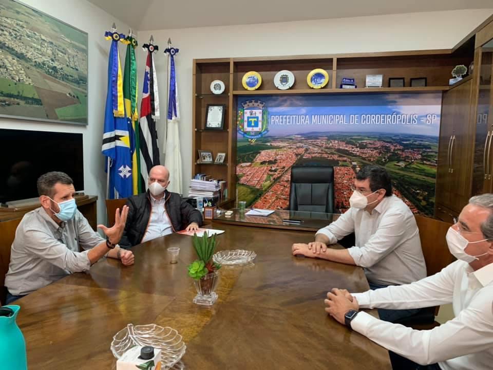 Cordeirópolis recebe visita do secretário Estadual de Infraestrutura e Meio Ambiente