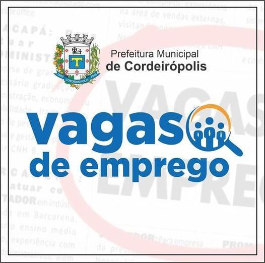 PAT Cordeirópolis oferece novas oportunidades de emprego: