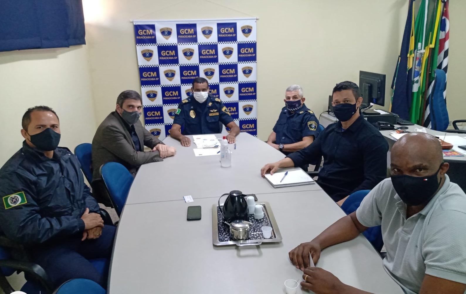 Secretário de Segurança Pública de Limeira reúne-se com comando da GCM de Piracicaba