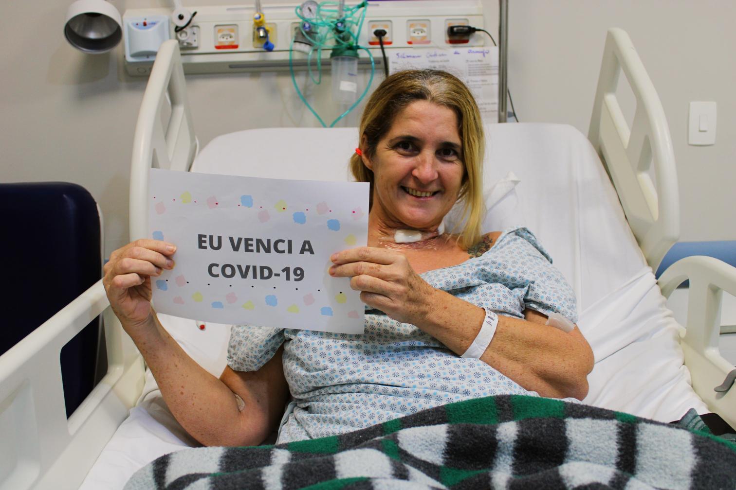 Emocionante: Moradora de Cordeirópolis recebeu alta hospitalar após 33 dias internada com Covid-19