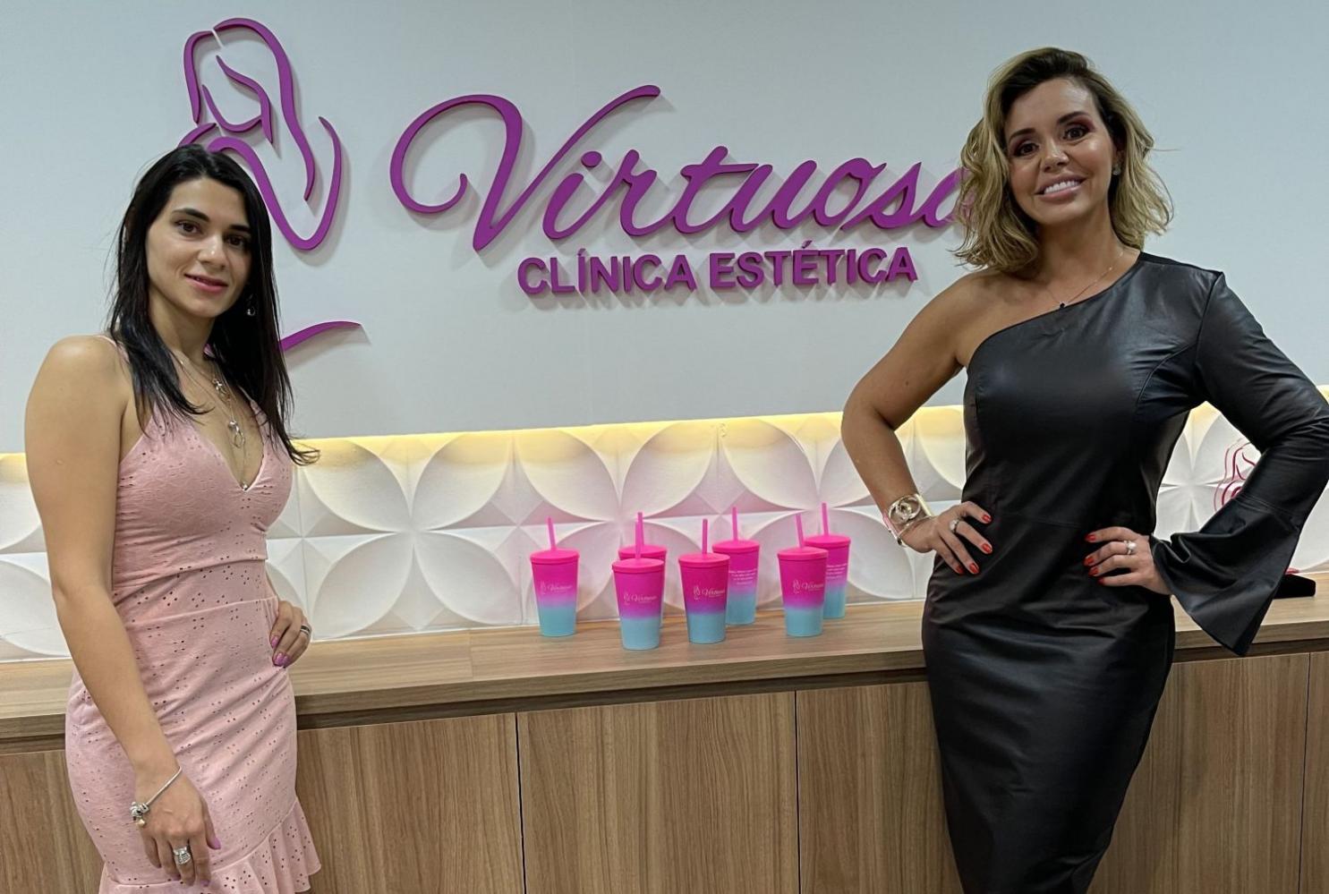 Renata Banhara prestigia inauguração da Clínica de Estética Virtuosa Tatuapé