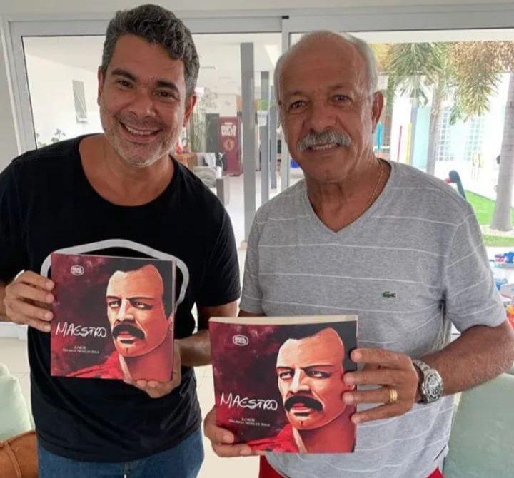 Novo livro sobre Júnior, ídolo do Flamengo, tem ilustrações de caricaturista de São Gonçalo