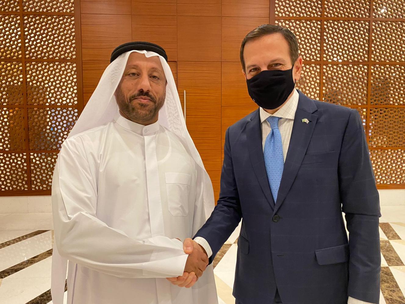 Doria anuncia acordo com a Câmara de Comércio e Indústria de Sharjah, nos Emirados Árabes